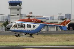 K.Sさんが、東京ヘリポートで撮影した川崎市消防航空隊 BK117C-2の航空フォト(飛行機 写真・画像)