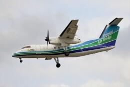 フッ軽の極美さんが、福岡空港で撮影したオリエンタルエアブリッジ DHC-8-201Q Dash 8の航空フォト(飛行機 写真・画像)