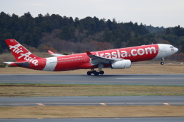 ▲®さんが、成田国際空港で撮影したタイ・エアアジア・エックス A330-343Xの航空フォト(飛行機 写真・画像)