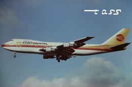 tassさんが、成田国際空港で撮影したコンチネンタル航空 747-238Bの航空フォト(飛行機 写真・画像)