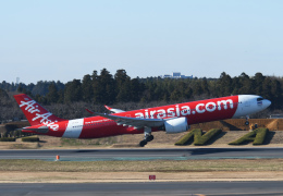 チャーリーマイクさんが、成田国際空港で撮影したタイ・エアアジア・エックス A330-941の航空フォト(飛行機 写真・画像)