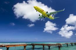 wing-aceさんが、下地島空港で撮影したスカイマーク 737-8ALの航空フォト(飛行機 写真・画像)