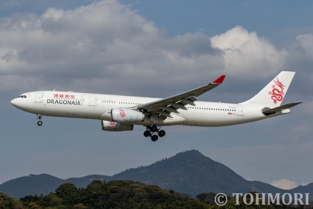 遠森一郎さんが、福岡空港で撮影したキャセイドラゴン A330-342Xの航空フォト(飛行機 写真・画像)
