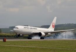 はれ747さんが、旭川空港で撮影した日本航空 767-346/ERの航空フォト(飛行機 写真・画像)