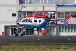 sepia2016さんが、東京ヘリポートで撮影した川崎市消防航空隊 BK117C-2の航空フォト(飛行機 写真・画像)