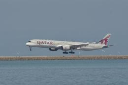 小弦さんが、サンフランシスコ国際空港で撮影したカタール航空 A350-1041の航空フォト(飛行機 写真・画像)