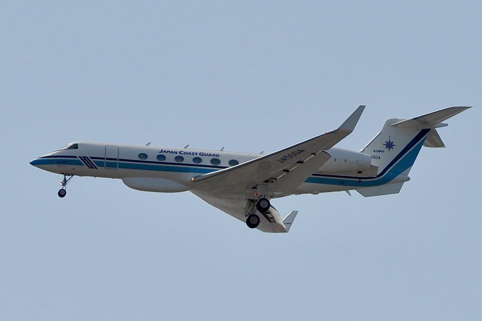 飛行機ゆうちゃんさんの海上保安庁 Gulfstream Aerospace G-V (JA500A) 航空フォト