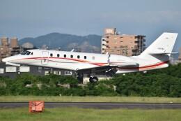 とびたさんが、名古屋飛行場で撮影した朝日航洋 680 Citation Sovereignの航空フォト(飛行機 写真・画像)