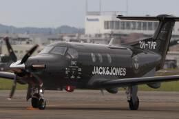はたけさんが、名古屋飛行場で撮影したデンマーク企業所有 PC-12/47Eの航空フォト(飛行機 写真・画像)