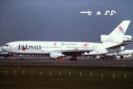 tassさんが、成田国際空港で撮影したJALウェイズ DC-10-40Iの航空フォト(飛行機 写真・画像)