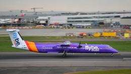 flytaka78さんが、ロンドン・ヒースロー空港で撮影したフライビー DHC-8-402Q Dash 8の航空フォト(飛行機 写真・画像)