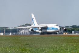 gomaさんが、ミュンヘン・フランツヨーゼフシュトラウス空港で撮影したヴォルガ・ドニエプル航空 An-124-100 Ruslanの航空フォト(飛行機 写真・画像)