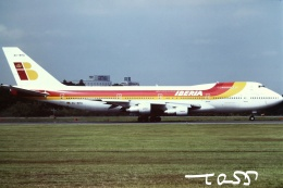 tassさんが、成田国際空港で撮影したイベリア航空 747-256Bの航空フォト(飛行機 写真・画像)