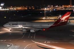 PIRORINGさんが、羽田空港で撮影したカンタス航空 747-438/ERの航空フォト(飛行機 写真・画像)