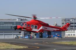 sepia2016さんが、東京ヘリポートで撮影した東京消防庁航空隊 AW139の航空フォト(飛行機 写真・画像)