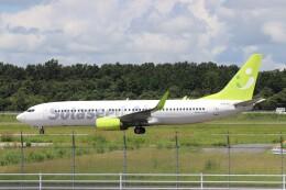 Yuseiさんが、熊本空港で撮影したソラシド エア 737-81Dの航空フォト(飛行機 写真・画像)
