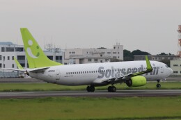Yuseiさんが、熊本空港で撮影したソラシド エア 737-86Nの航空フォト(飛行機 写真・画像)