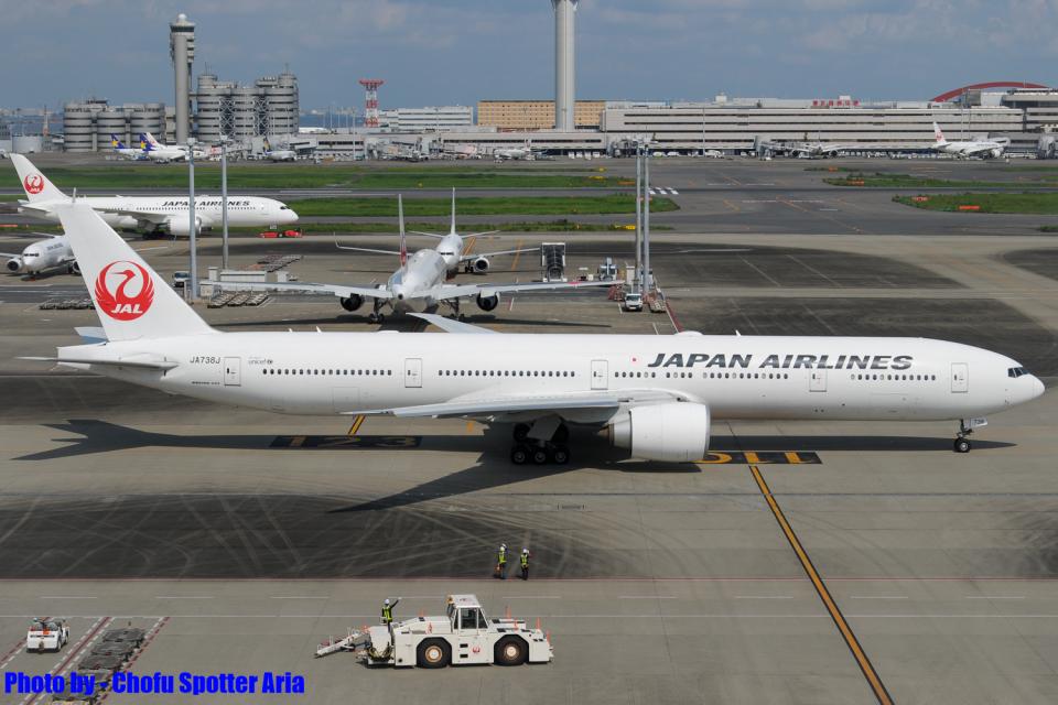 Chofu Spotter Ariaさんの日本航空 Boeing 777-300 (JA738J) 航空フォト