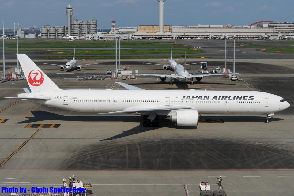 Chofu Spotter Ariaさんの日本航空 Boeing 777-300 (JA739J) 航空フォト