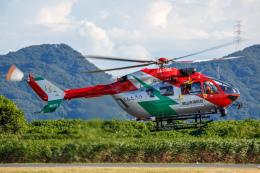 よっしぃさんが、岡南飛行場で撮影した岡山市消防航空隊 BK117C-2の航空フォト(飛行機 写真・画像)