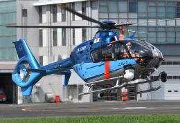 チャーリーマイクさんが、東京ヘリポートで撮影した警視庁 EC135T2+の航空フォト(飛行機 写真・画像)