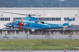 (新)ふぁんとむ改さんが、広島へリポートで撮影した広島県警察 A109E Powerの航空フォト(飛行機 写真・画像)
