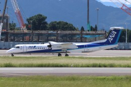 Yuseiさんが、熊本空港で撮影したANAウイングス DHC-8-402Q Dash 8の航空フォト(飛行機 写真・画像)