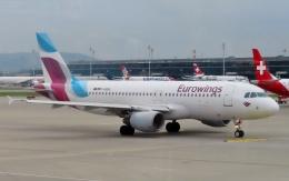 TA27さんが、チューリッヒ空港で撮影したユーロウイングス A320-214の航空フォト(飛行機 写真・画像)