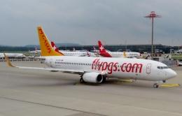 TA27さんが、チューリッヒ空港で撮影したペガサス・エアラインズ 737-82Rの航空フォト(飛行機 写真・画像)