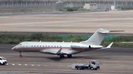誘喜さんが、羽田空港で撮影したビスタジェット BD-700-1A10 Global 6000の航空フォト(飛行機 写真・画像)