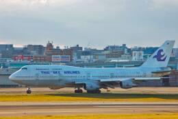 tsubameさんが、福岡空港で撮影したタイ・スカイ・エアラインズ 747-206BM(SUD)の航空フォト(飛行機 写真・画像)