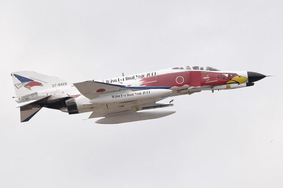 woodpeckerさんの航空自衛隊 Mitsubishi F-4EJ Kai Phantom II (07-8428) 航空フォト