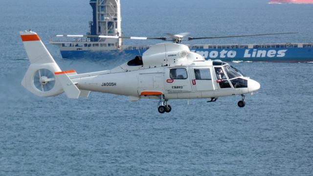 航空見聞録さんが、神戸空港で撮影した北海道航空 AS365N2 Dauphin 2の航空フォト(飛行機 写真・画像)