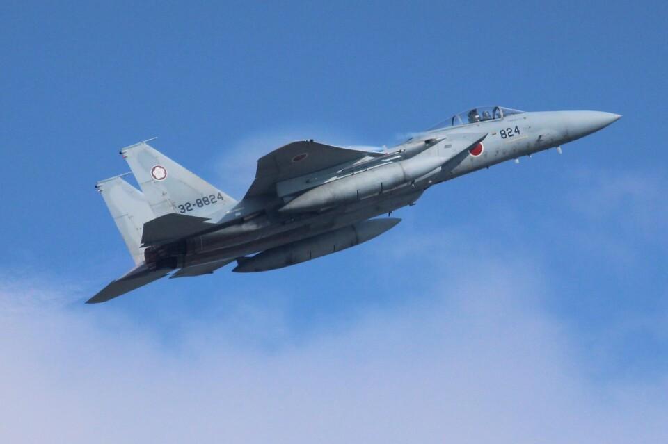 こびとさんさんの航空自衛隊 Mitsubishi F-15J Eagle (32-8824) 航空フォト