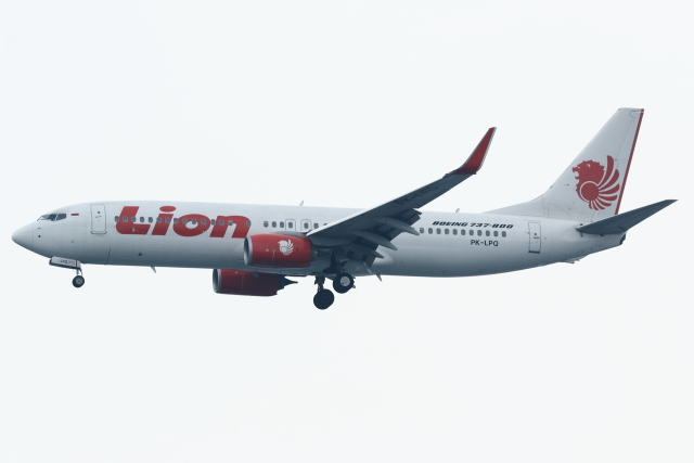 kinsanさんが、スカルノハッタ国際空港で撮影したライオン・エア 737-8GPの航空フォト(飛行機 写真・画像)