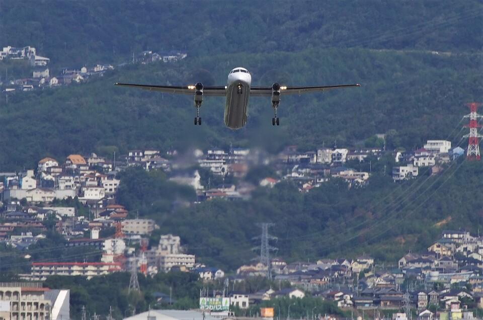 mild lifeさんのANAウイングス Bombardier DHC-8-400 (JA855A) 航空フォト