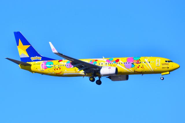 フリューゲルさんが、羽田空港で撮影したスカイマーク 737-8ALの航空フォト(飛行機 写真・画像)