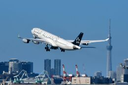 まいけるさんが、羽田空港で撮影したルフトハンザドイツ航空 A340-313Xの航空フォト(飛行機 写真・画像)