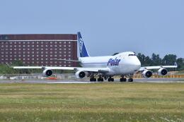 ポン太さんが、成田国際空港で撮影したポーラーエアカーゴ 747-46NFの航空フォト(飛行機 写真・画像)