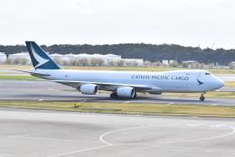 気まぐれさんが、成田国際空港で撮影したキャセイパシフィック航空 747-867F/SCDの航空フォト(飛行機 写真・画像)