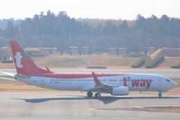Love NRTさんが、成田国際空港で撮影したティーウェイ航空 737-8ASの航空フォト(飛行機 写真・画像)