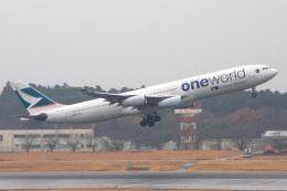 S.Hayashiさんが、成田国際空港で撮影したキャセイパシフィック航空 A340-313Xの航空フォト(飛行機 写真・画像)