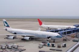 S.Hayashiさんが、中部国際空港で撮影したキャセイパシフィック航空 A340-313Xの航空フォト(飛行機 写真・画像)