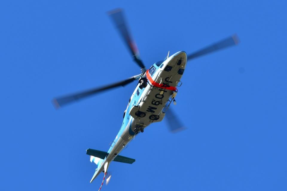 くつおばけくんさんの宮城県警察 Agusta A109 (JA109M) 航空フォト