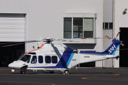 KAZFLYERさんが、東京ヘリポートで撮影したオールニッポンヘリコプター AW139の航空フォト(飛行機 写真・画像)