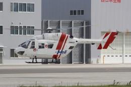 MOR1(新アカウント)さんが、奈多ヘリポートで撮影した西日本空輸 BK117B-2の航空フォト(飛行機 写真・画像)