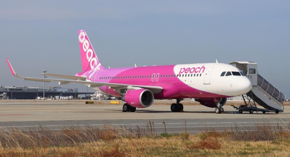 uhfxさんのピーチ Airbus A320 (JA06VA) 航空フォト