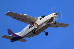 キャスバルさんが、フェニックス・スカイハーバー国際空港で撮影したフェデックス・エクスプレス 208B Super Cargomasterの航空フォト(飛行機 写真・画像)