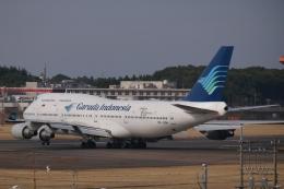 木人さんが、成田国際空港で撮影したガルーダ・インドネシア航空 747-4U3の航空フォト(飛行機 写真・画像)