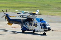 もえちゃんさんが、山形空港で撮影した中日本航空 AS332L Super Pumaの航空フォト(飛行機 写真・画像)